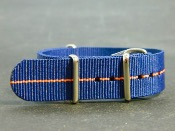 Nato 20mm bleu/orange