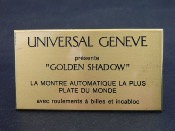 Universal Geneve golden shadow plaque laiton